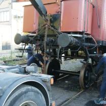 Axelrevision i Västberga med hjälp av lastbil