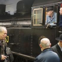 Rusning till ångtåget på Cst 2014