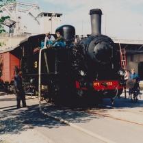 N1173 fyller vatten i Danvikstull 1995