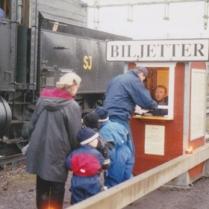 Biljettförsäljning på Norra Station 1994