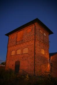 Nattbild av vattentornet. Foto: Lasse Nelson