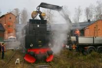 Kolning av SÅS S1 1921. Foto: Lasse Nelson