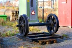 En hjulaxel som gåva från SÅS. Foto: Lasse Nelson