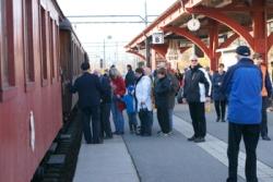 Avgång från stationen. Foto: Lasse Nelson