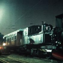 K4 793 med trafiktåg på Slakthuset 1975