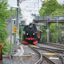 Passage av Tvärbanan vid Liljeholmen