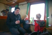Glögg serverades även ombord