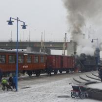 Straxt före avgång i Liljeholmen