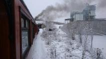 Vintrig bild på väg mot Södertälje