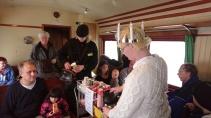 Serveringspersonalen ombord på Luciatågen 2016